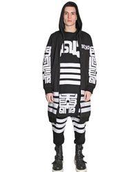 KTZ Black Embroidered Long Cotton Sweatshirt for men
