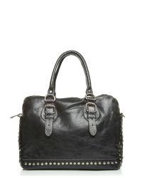 Moda In Pelle Blue Ilsabag Casual Handbag