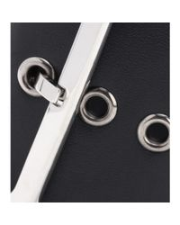 Givenchy Black Buckle Cuff Leather Bracelet