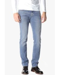 7 For All Mankind - Blue Slimmy Slim Straight With Clean Pocket In High Tides for Men - Lyst