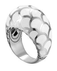 John Hardy | Metallic Naga Silver Enamel Dome Ring With White Enamel for Men | Lyst