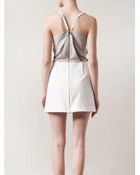 Roland Mouret Gray 'Billingham' Draped Dress