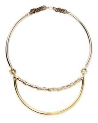 Anndra Neen - Metallic Melted Moon Necklace - Lyst