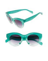 A.J. Morgan - Gray 'emma' 48mm Sunglasses - Teal - Lyst