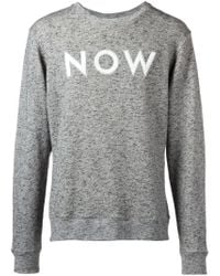 Each x Other Gray Now Appliqué Marled Sweater for men