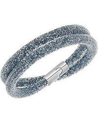 Swarovski | Gray Stardust Double Bracelet Small 38cm | Lyst