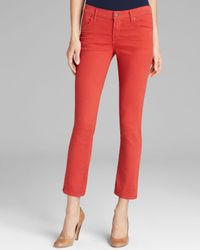 Citizens of Humanity Jeans Phoebe Crop in Red Line