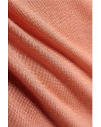 Enza Costa - Orange Slub Modal-blend Jersey Top - Lyst