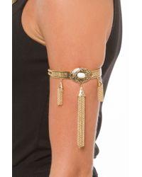 AKIRA - Metallic Around The River Bend Arm Bracelet - Lyst