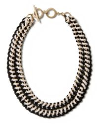 Banana Republic | Metallic Woven Curb Chain Necklace | Lyst