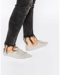ASOS - Gray Dagnall Lace Up Trainers - Lyst