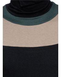 Kolor - Black Turtleneck Panel Sweater for Men - Lyst