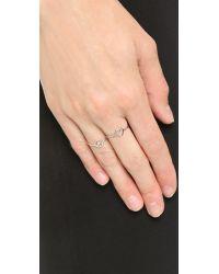 Aurelie Bidermann | Metallic 750 Sterling Silver Peace Ring - Silver | Lyst