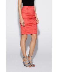 Nicole Miller Red Sandy Skirt