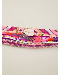 Hipanema Multicolor Fluo Purple Bracelet