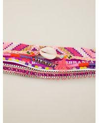 Hipanema Multicolor Fluo Purple Bracelet