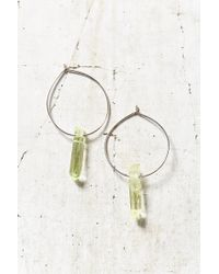 Urban Outfitters | Green Cosmic Dreams Crystal Hoop Earring | Lyst
