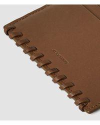 AllSaints - Brown Fleur De Lis Multicard Case Usa Usa - Lyst