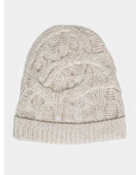 White + Warren Natural Cable Knit Hat