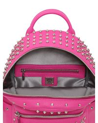 MCM Purple Mini Stark Swarovski Leather Backpack