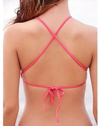 Free People | Pink High Neck Crop Top Basic Bottoms | Lyst