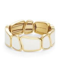 kate spade new york | Play To The Gallery White Stretch Bracelet | Lyst