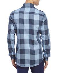 Moods Of Norway - Blue Kristian Vik Check Shirt for Men - Lyst