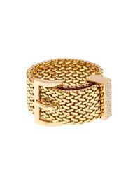 Aurelie Bidermann | Metallic Diamond & Yellow-Gold Belt Ring | Lyst
