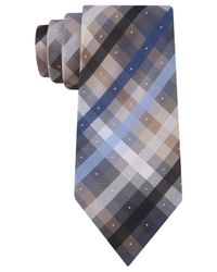 Kenneth Cole Reaction | Blue Carnival Plaid Tie for Men | Lyst