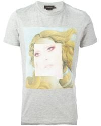 Les Benjamins - Gray Photo Print T-Shirt for Men - Lyst