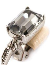 Oscar de la Renta   Blue Large Octagon Stone Clip-on Earrings   Lyst
