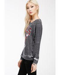 80967811442ba Forever 21 Chicago Bulls Sweatshirt in Black - Lyst