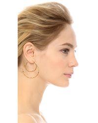 Alexis Bittar - Metallic Double Hoop Earrings - Gold - Lyst
