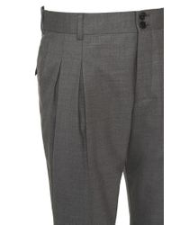 HUGO | Gray Slim-fit Trousers In New-wool Blend: 'hilad' for Men | Lyst