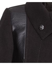 H&M Black Figure-Fit Coat