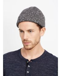 Vince Gray Cashmere Marled Knit Beanie for men
