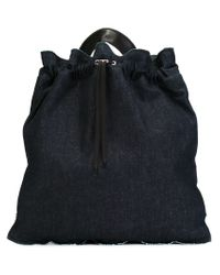 Jil Sander - Blue Drawstring Back Pack - Lyst