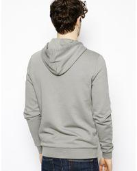 ASOS - Gray Zipthrough Hoodie for Men - Lyst