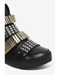 Nasty Gal - Black Plata High-top Sneaker - Lyst
