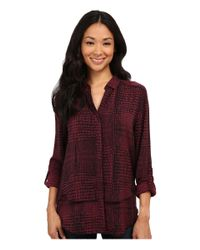 Calvin Klein Jeans - Red Snake Print Double Front Fray Shirt - Lyst