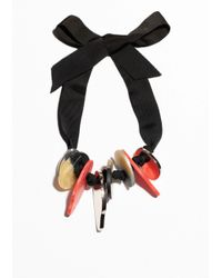 & Other Stories | Black Grosgrain Ribbon Statement Necklace | Lyst