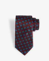 Ted Baker | Red Floral 7cm Tie for Men | Lyst