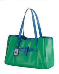 Lauren by Ralph Lauren Green Davenport Leather Shopper Tote Bag