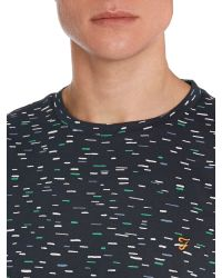 Farah - Blue Foxton Regular Fit Dash Print T-shirt for Men - Lyst