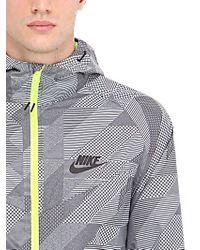 Nike | Gray Packable Nylon Wind Runner Jacket for Men | Lyst