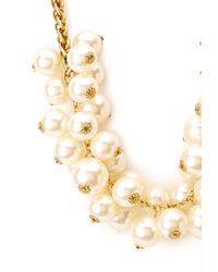 Forever 21 Metallic Faux Pearl Cluster Necklace