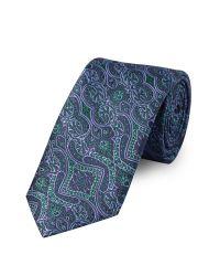 Bäumler | Purple Ornate Tapestry Tie for Men | Lyst