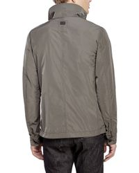 G-Star RAW | Gray Timor Biker Overshirt for Men | Lyst
