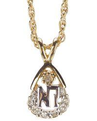Nina Ricci Metallic Embellished Teardrop Pendant