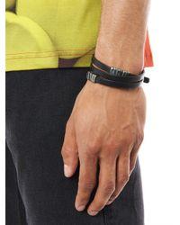 Bottega Veneta - Black Nero Leather and Silver Bracelet for Men - Lyst